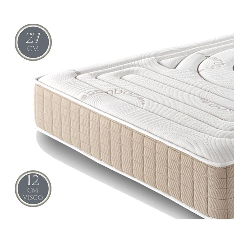 matelas viscobambou v12cm mousse a memoire de forme destockage literie. Black Bedroom Furniture Sets. Home Design Ideas
