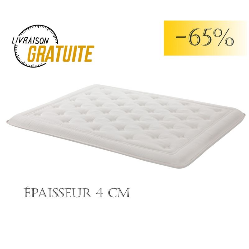 sur matelas douceur 4 cm air system superdoux destockage literie. Black Bedroom Furniture Sets. Home Design Ideas